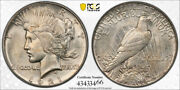 1921 1 Peace Dollar High Relief Pcgs Ms 64 Uncirculated Cac Approved Cert3466