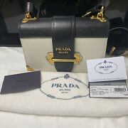 Prada Cahier Leather 2 Pocket Cross Body Excellent Condition