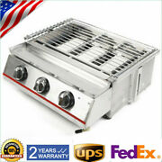 Gas Grill 3 Burner Stainless Steel Bbq Outdoor Barbecue Cooker Patio Us Sale