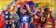 Alex Ross Rare Avengers Invincible Canvas Giclee Signed Pp 12/25 Sold Out Coa