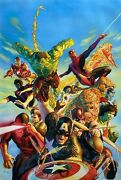 Alex Ross Rare Secret Wars Marvel Canvas Giclee Signed Pp 11/25 Sold Out Coa