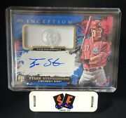 Tyler Stephenson - 2021 Topps Inception Autograph Patch Card Rpa Button Auto 4/6