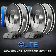 Full Kit Eline Replacement Brake Rotors And Heavy Duty Brake Pads Ceb.65025.04