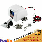 White 45 Lbs Marine Electric Anchor Winch With Wireless Remote Fits Salt Water