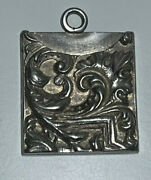 Antique Mauser Sterling Silver Ornate Repousse Stamp Holder