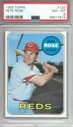 Pete Rose 1969 Topps Psa 8 Just Graded/centered/beautiful Card All Around