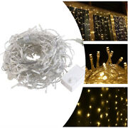 13ft Curtain Icicle Lights Wedding Party Led Fairy Christmas Indoor Outdoor