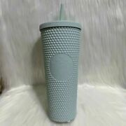 New Starbucks Cold Cup Tumbler 24 Oz Studded Bling Mint Green Thailand Asia Aus
