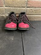 Elite Athena Lace Up Bowling Shoes Pink And Black - Womenand039s Size 7.5 Excellent