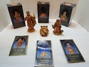 Fontanini Nativity 5 Collection Mary Joseph And Baby In Box 72511-72512-72513