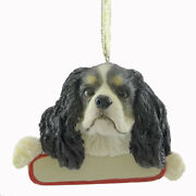 Personalized Ornaments King Charles Resin Color Christmas Puppy Dog 21819 Tri