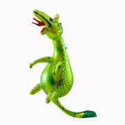 Laved Italian Ornaments Dragon Glass Green Fire Breathing Scales Cr75