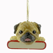 Personalized Ornaments Pug Polyresin Christmas Puppy Dog 21831