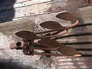 Vintage Hand Push Cultivator Plow Attachment Claw Hoe