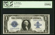 1923 1 Silver Certificate Banknote Fr-238 Pcgs Certified Gem Uncirculated-67ppq