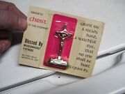 Vintage 70s Nos Christ Of The Highway Blessed Auto Dash Gm Street Rat Hot Rod