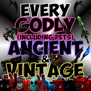 Roblox Mm2 Every Godly Ancient And Vintage Knifes/guns Fast Delivery