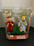 The Simpsons Good And Evil Homer Figure Mcfarlane Toys