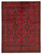 Vintage Geometric Hand-knotted Carpet 5and0390 X 6and0397 Traditional Wool Area Rug
