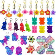 4-15pcs Sensory Simple Bubble Fidget Toy Stress Relief Adhd Gift Dimple Keychain