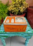 Vintage Collectible Advertisement Tin Box Of Auto Feed Teats Baby Teats Brand