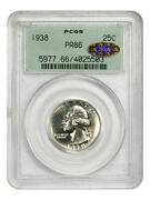 1938 25c Pcgs/cac Pr 66 Ogh Gold Cac - Old Green Label Holder