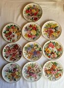 Vintage Hutschenreuther Germany Limited Edition Collectors Plate Set Of 10 Pcs.