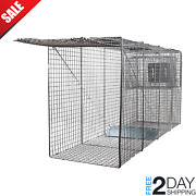 Big Animal Live Humane Cage Trap Large Dogs Foxes Coyotes 58x26x17