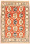 Vintage Geometric Hand-knotted Carpet 9and0392 X 13and0397 Traditional Wool Area Rug