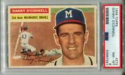 1956 Topps 272 Danny O'connell Psa 8 Nm-mt Milwaukee Braves