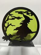 Yankee Candle Halloween Spellbound Flying Witch Jar Candle Screen Holder Spooky