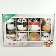 Squishmallows Holiday Plush Ornament Set 2021 Holiday Winter Squad 8 Minis