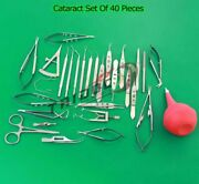 Cataract Set Of 40 Pieces Opthalmic Eye Instruments Ey Grade A+