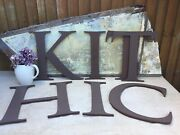 Job Lot 7 Large Salvaged Weathered Perspex Shop Front Letterskhc T 2 I 2