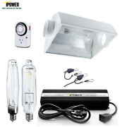 Ipower 1000w Hps Mh Dimmable Grow Light System Kit Air Cooled Hood Set For Plant