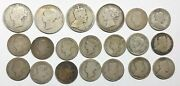 1872-1937 - Canada - Total Of 20 - 25 And 50 Cents Silver Coins