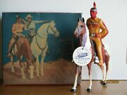 Vintage 1950and039s Hartland Later Version Tonto W/scout Original Box + Tag Complete