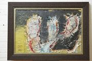 Layne Meacham Untitled Abstract Mixed Media On Panel Painting