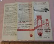 Early 1957 New York Airways Nyc Helicopter Foldout Schedule Brochure Aviation