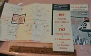 Early 1965 New York Airways Nyc Helicopter Foldout Schedule Brochure Aviation