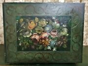 Flower Scroll Leaf Painted Decorative Table Antique French Salvaged Furniture