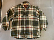 Vintage Abercrombie And Fitch Heavyweight Quilted Flannel Jacket Medium Y2k