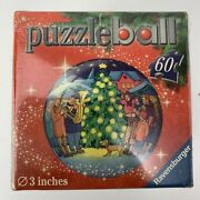 Christmas Tree Puzzle Ball 3d Round Ornament Music Dog Ravensburger 60 Piece