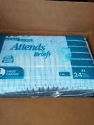 Vintage 72 Pack Attends Plastic Backed Adult Diapers Large.