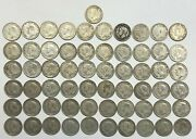 1937-1952 - Canada - Total Of 61 - 25 Cents Silver Coins