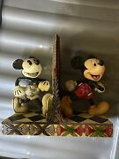 Disney Traditions Jim Shore Mickey Mouse 80 Years Of Laughter Black White