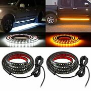 Jdmon 60 Inches Truck Led Running Board Lights Strips Sequential Amber Turn S...