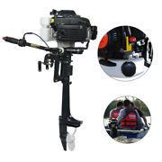 4 Hp 4 Stroke Gasoline Boat Engine Outboard Motor Air Cooling System