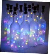 - W5-ft-led-mc 750ml Glass Bordeaux Wine Bottles - Frosted - Multi-colored Led