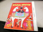 Dr Dolittle Rex Harrison 1967 Fuzzy Coloring Book Unused Movie Character Pushmi